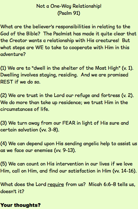 Psalms of the Salter: Some Thoughts on Really Living for the