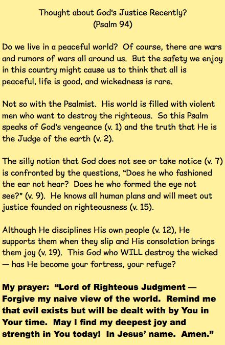 Psalm 94 | Dr  Larry E  Dixon