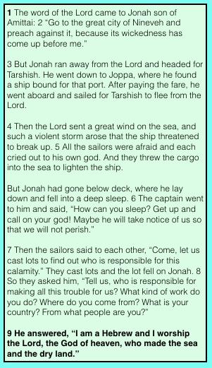 Jonah — Belief Contradicted by Behavior! (Part 2)  